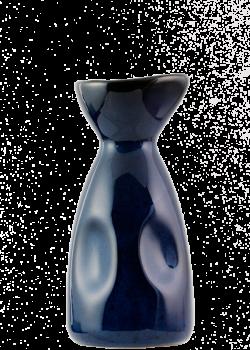 Ein sake Tokkuri in Kobaltblau